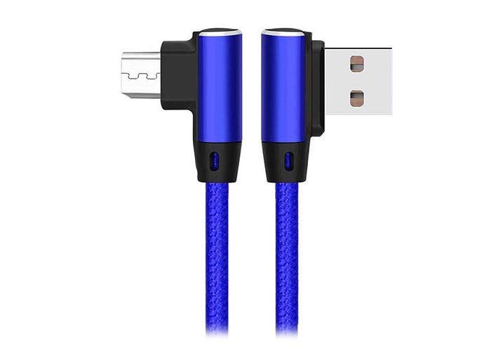 S-link Swapp SW-C555 1M 3A Micro Lacivert Kılıflı Metal -L- Kablo