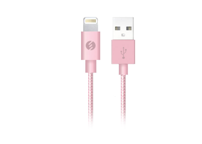 S-link Swapp SW-C602 2A iPhone 5 1m Rose Gold Lightning Data + Sarj Kablosu