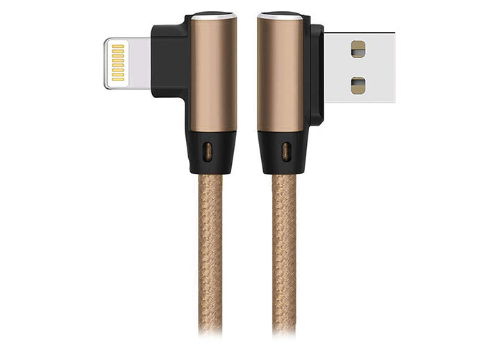 S-link Swapp SW-C655 1M 3A iPhone Lightning Case Metal -L- Gold Data + Charger Cable