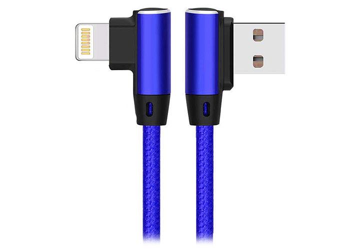 S-link Swapp SW-C655 1M 3A iPhone Lightning Kılıflı Metal -L- Lacivert Data + Sarj Kablosu