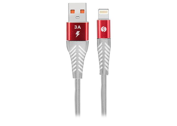 S-link Swapp SW-C665 1.2M 3A Lightning Kırmızı/Beyaz Şarj Kablosu