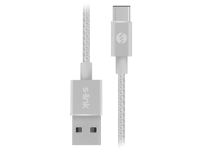 S-link Swapp SW-C702 2A 1m Gray Type-C Data + Charging Cable
