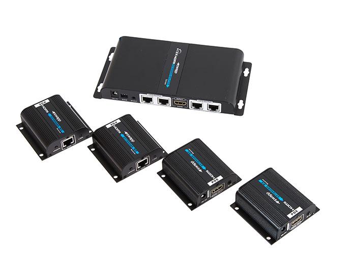 S-Link Swapp SW-HDEX450 4lu HDMI Extender CAT6/6a/7 Kablo ile 50m Destekli Splitter