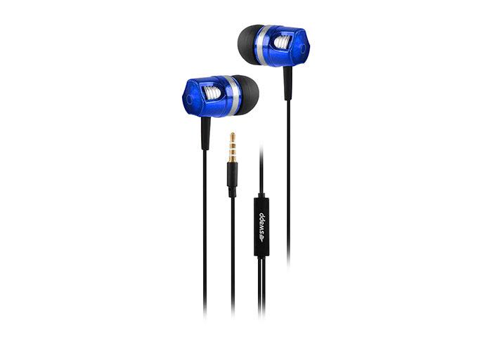 S-link Swapp SW-K7 Mobil Telefon Uyumlu Metal Kulak içi Mavi Mikrofonlu Kulaklık