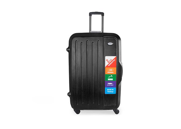 Addison ADS-201 Black Medium Size Suitcase