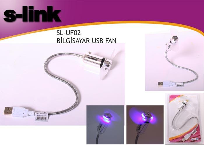 S-link SL-UF02 Anahtarlı + Ledli Usb Fan