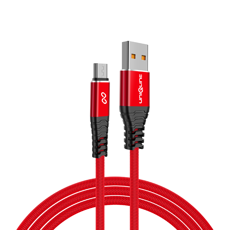 Uniqline UN-KA110 3A Micro Usb 1m Kırmızı Data + Sarj Kablosu
