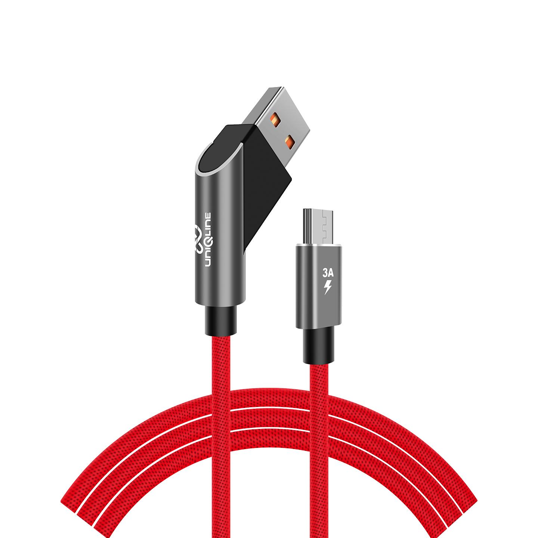Uniqline UN-KA115 3A Micro Usb 1m Kırmızı Data + Sarj Kablosu