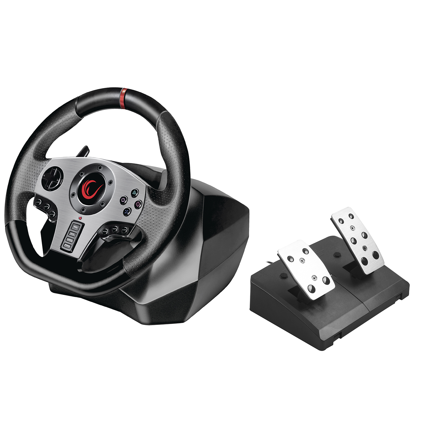 Rampage V900-S PS3 / PS4 / PC / XBOXONE / XBOX360 SWITCH 6 in 1 Pedal Gaming Racing/Steering Wheel