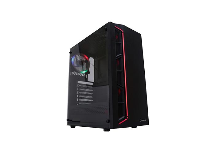 Rampage VICTORY 600W 80 Plus Bronze Temper Camlı 12cm RGB Fan+Led Şertli Gaming Oyuncu Kasası
