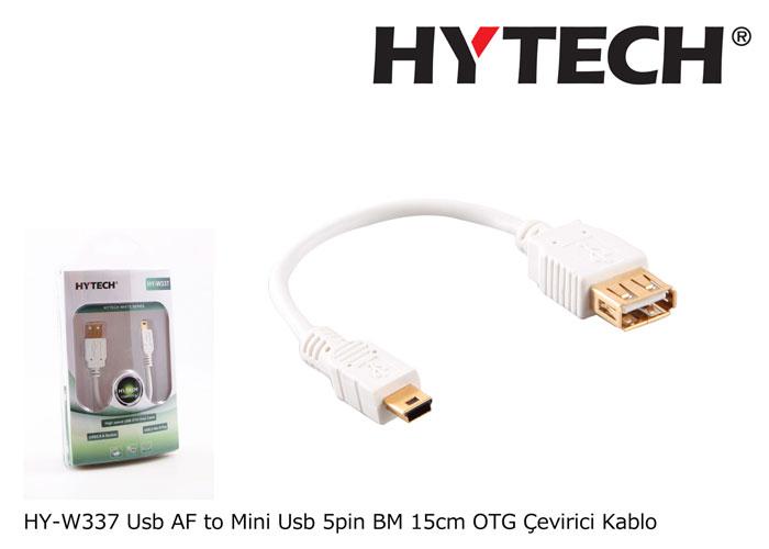Hytech HY-W337 Usb AF to Mini Usb 5pin BM 15cm OTG Çevirici Kablo