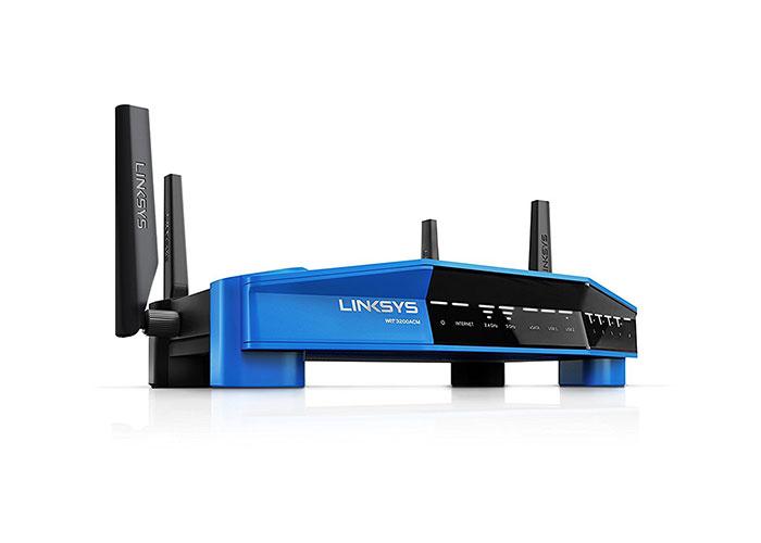 Linksys WRT3200ACM-EU 600Mbps+2600Mbps 4x Gigabit LAN Dual-Bant Kablosuz AC Router