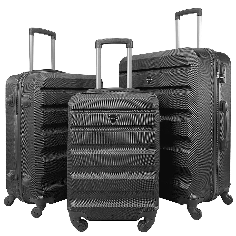 Wexta WX-330 Siyah Diamond Serisi 3lü Set Valiz