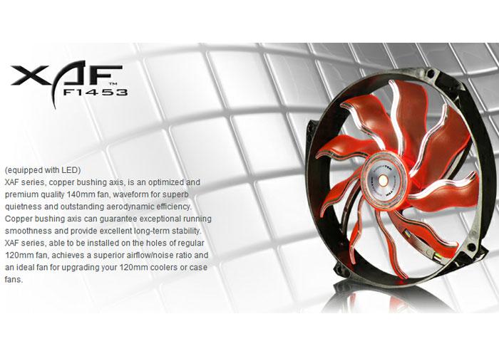 Xigmatek XAF-F1453 140*140*25mm Işıklı Kasa Fanı