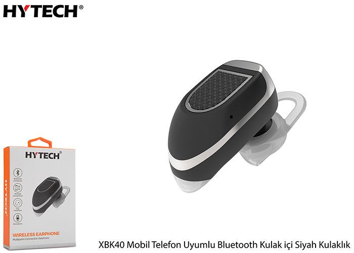 Hytech XBK40 Mobil Telefon Uyumlu Bluetooth Kulak içi Siyah Kulaklık