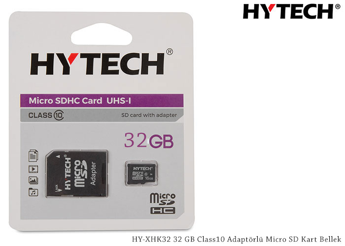 HYTECH HY-XHK32 32GB Micro SD Card Memory with Class10 Adapter