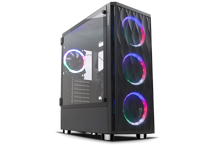 Rampage X-HORSE Tempered Glass 600W 80 Plus Bronze 4*Rainbow Fan 1*Usb 3.0 1*Usb 2.0 Gaming Kasa