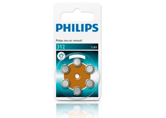 Philips ZA312B6A/10 Minicell Çinko 312 1.4V 6lı Pil