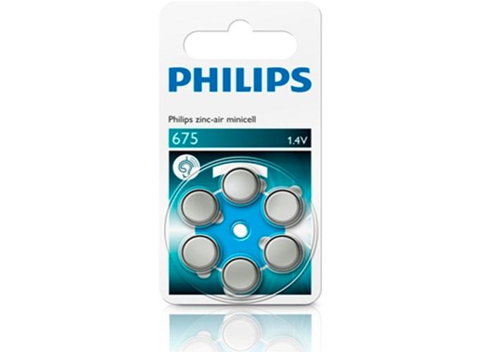 Philips ZA675B6A/10 Minicell Çinko 675 1.4V 6lı Pil