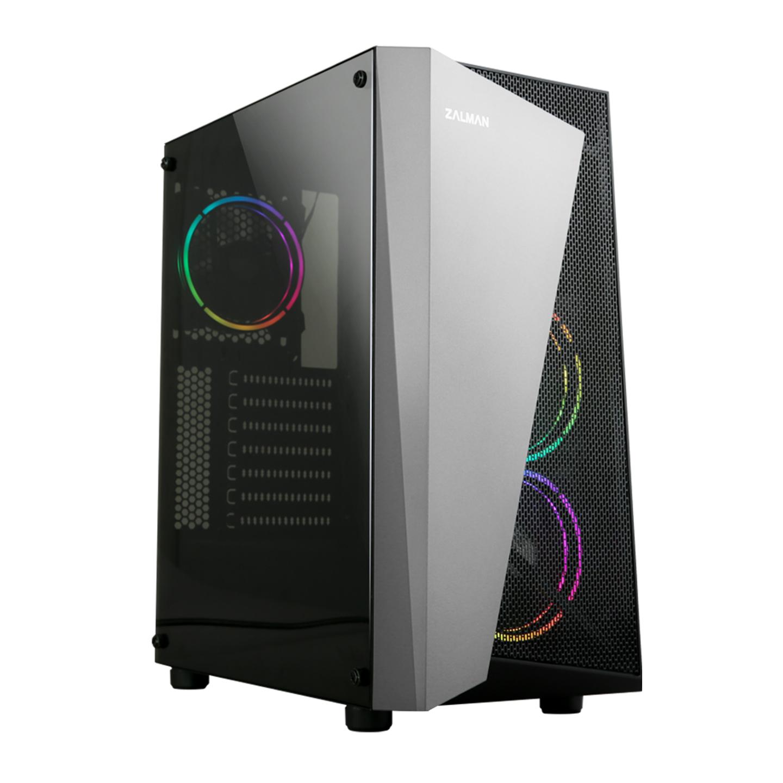 Zalman S4 Plus 120mm RGB Fanlı MegaMax 600W 80 Siyah ATX Mid Tower Gaming Oyuncu Kasası