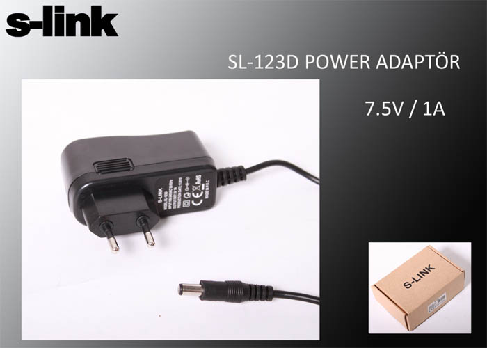 S-link SL-123D 7.5V 1A Power Adaptör