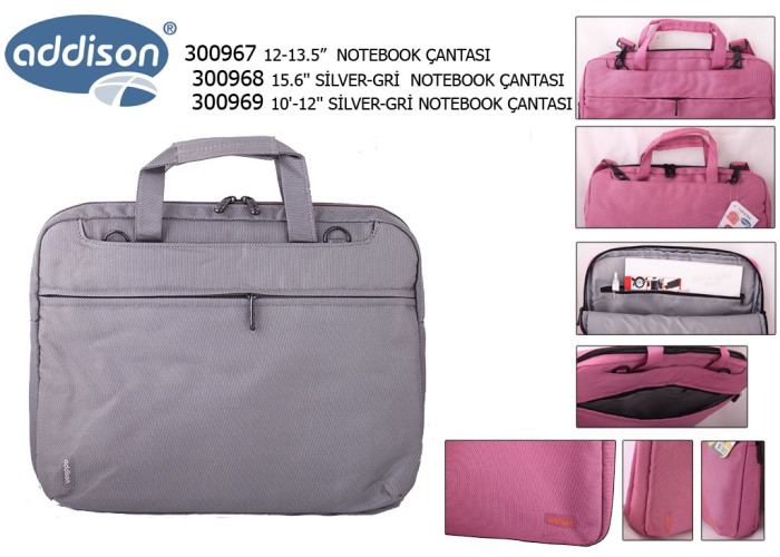 Addison 300968 15.6 Silver-gray Computer Notebook Bag