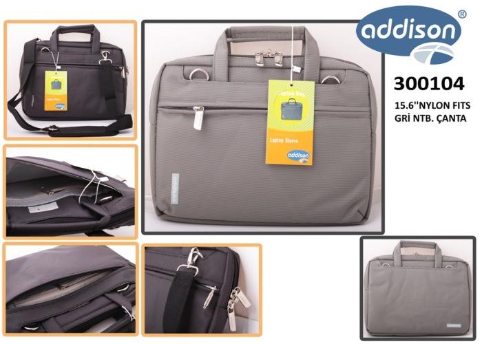Addison 300104 15.6 Gri Naylon Fits Bilgisayar Notebook Çantası