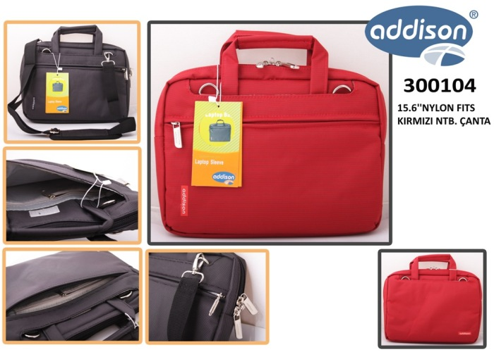 Addison 300104 15.6 Kırmızı Naylon Fits Bilgisayar Notebook Çantası