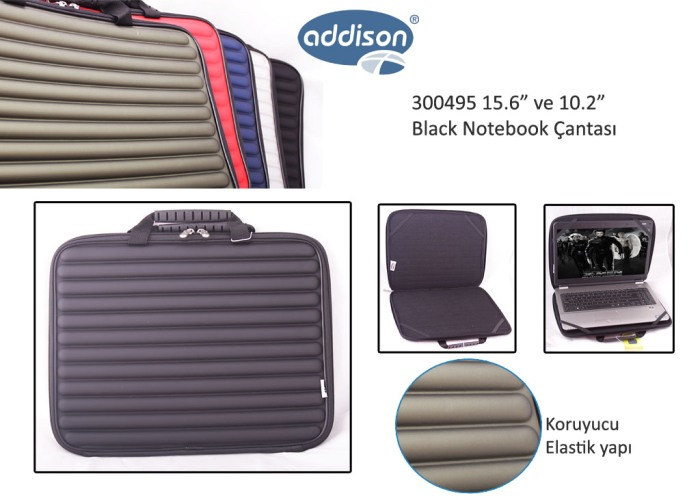 Addison 300495 15.6 Siyah Kılıf Bilgisayar Notebook Çantası