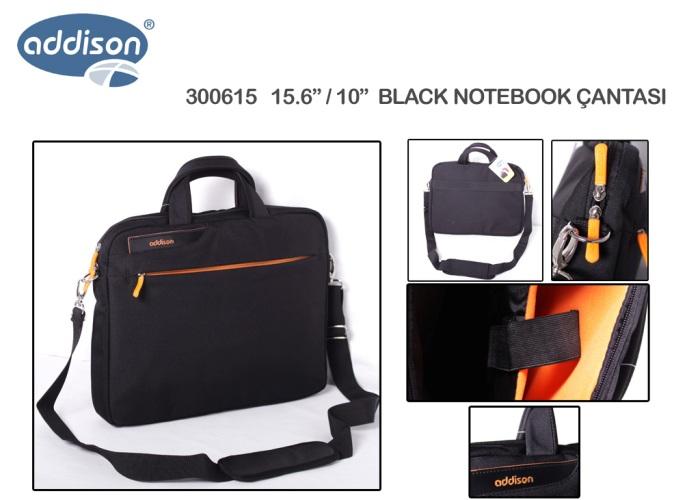 Addison 300615 15.6 Black Computer Notebook Bag