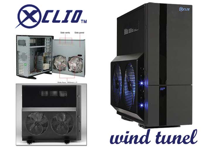 Xclio WTBK WIND TUNNEL Beyaz Süper Tower Kasa