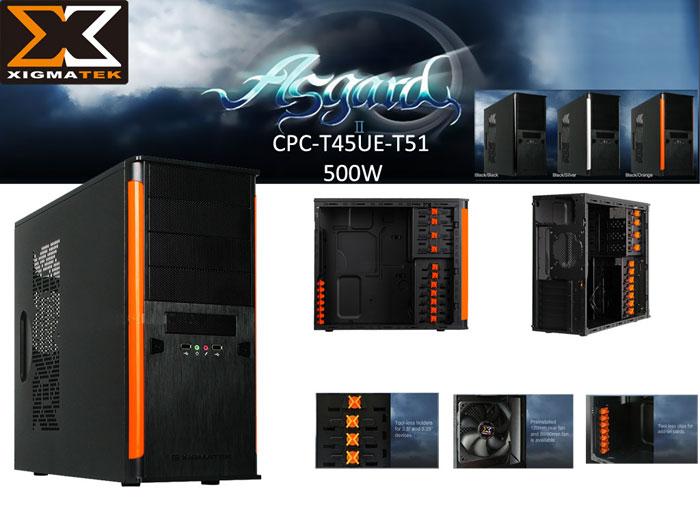 Xigmatek CPC-T45UE-T51 ASGARD II 500W Siyah/Turuncu Kasa
