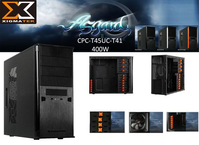 Xigmatek CPC-T45UC-T41 ASGARD II 400W Siyah/Siyah Kasa