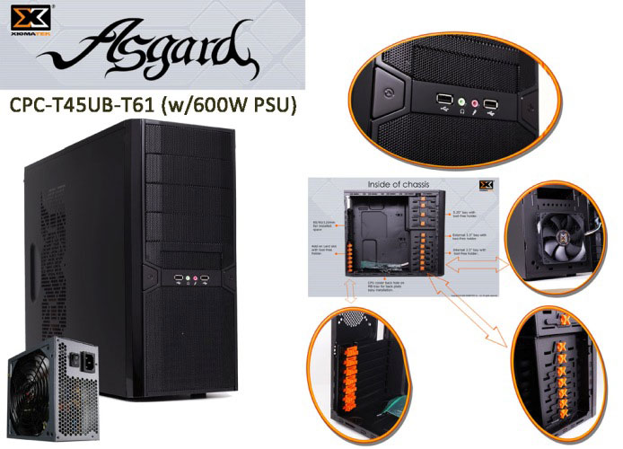 Xigmatek CPC-T45UB-T61 ASGARD 600W Kasa