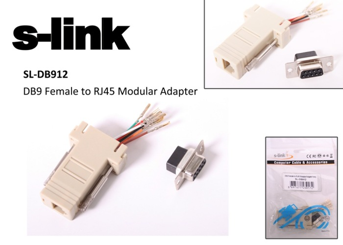 S-link SL-DB912 DB9-FEMALE TO RJ45 Modular Adaptör