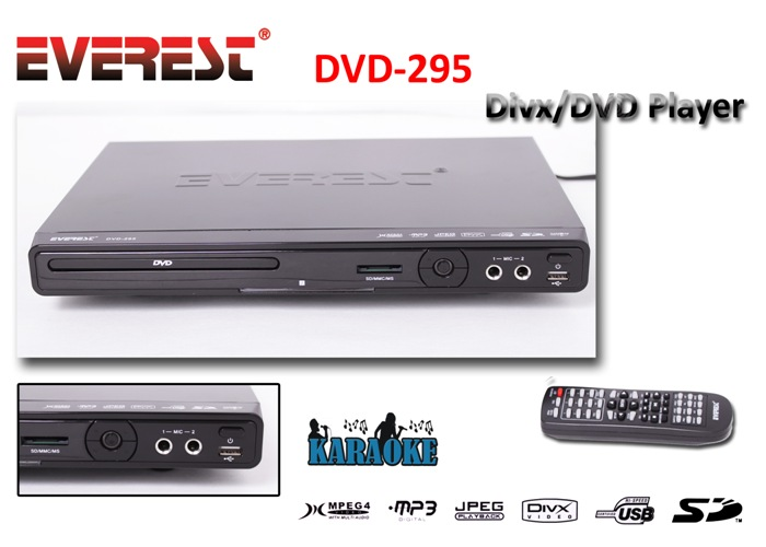 Everest DVD-295 5+1Ch+Led Ekran Dvd Oynatıcı