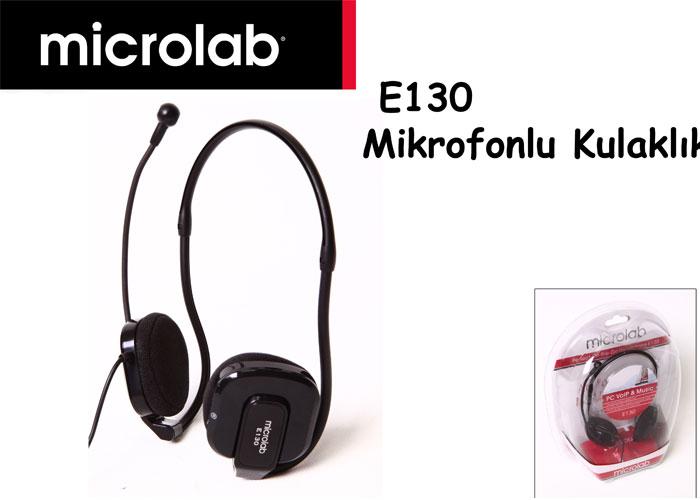 Microlab E130 Siyah Mikrofonlu Kulaklık