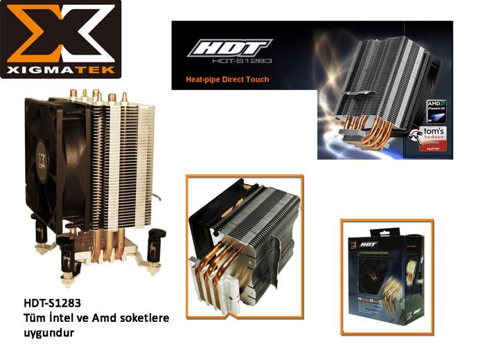 Xigmatek HDT-S1283 Tüm/775 CPU Fan