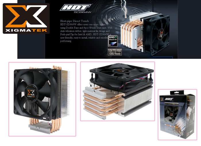 Xigmatek HDT-SD964W İntel/Amd Tümü CPU Fan