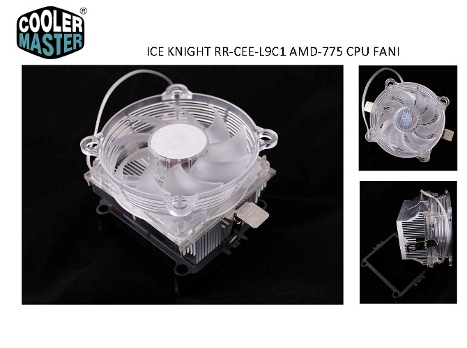 Cooler Master RR-CEE-L9C1-GP Amd + İntel 775 Geçmeli CPU Fan