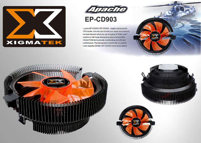 Xigmatek EP-CD903 APACHE AM2/939/LGA/1156 CPU Fan