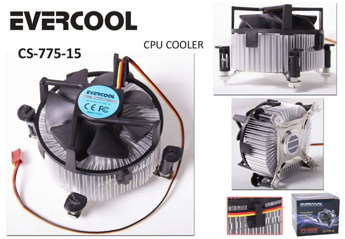 Evercool CS-775-15 Aliminyum CPU Fan
