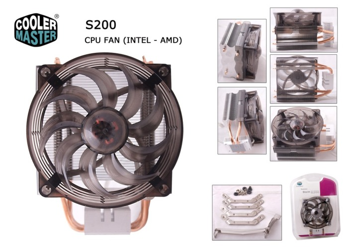 Cooler Master S200 RR-UAH-L9C1-GP İntel/Amd CPU Fan