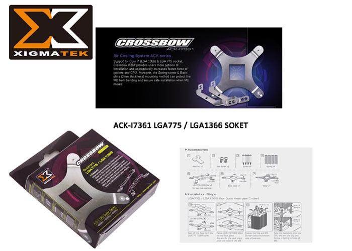 Xigmatek ACK-I7361 LGA/1366/775 Soket Yuvası