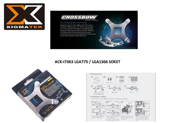 Xigmatek ACK-I7363 LGA/1366/775 Soket Yuvası