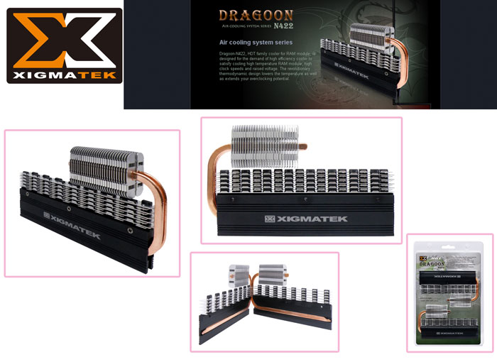 Xigmatek N422 Dragon Black Module Ram Cooler