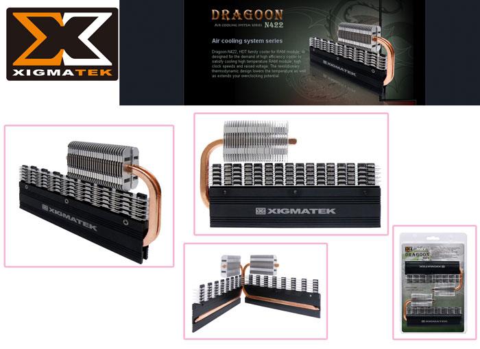 Xigmatek N422 Dragon Siyah Modül Ram Soğutucu
