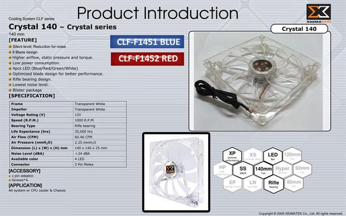 Xigmatek CLF-F1452 Kırmızı Işıklı Kasa Fanı