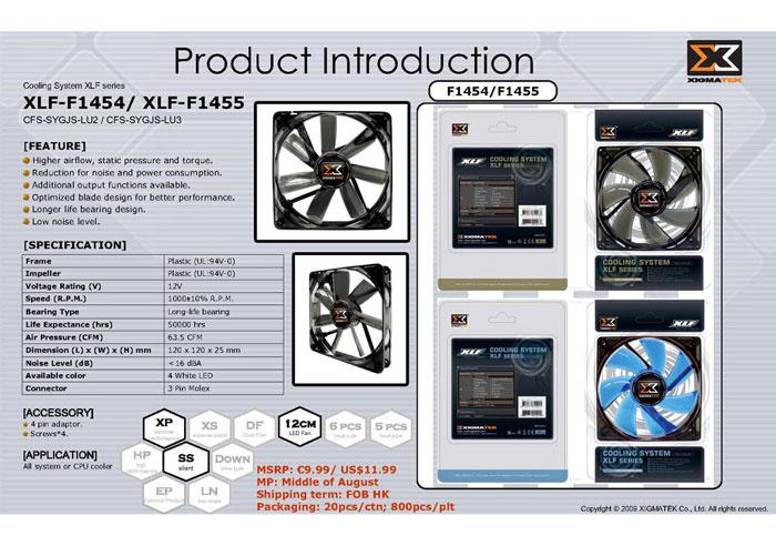 Xigmatek XLF-F1455 140*140*25mm Işıklı Kasa Fanı