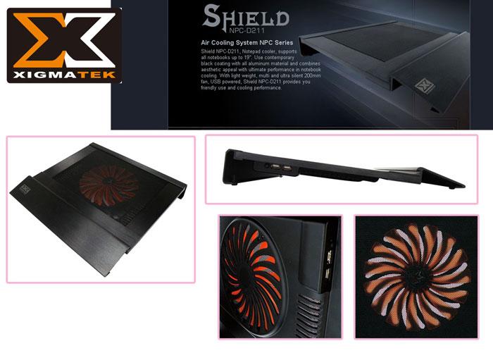 Xigmatek NPC-D211 Shield Notebook Soğutucu Stand